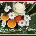 composition florale fruits et fleurs