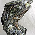 Hervé THAREL SCHMIMBLOCK'S minor 2013 - 18cmx9,5cm acrylique sur argile (1)