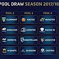 Champions cup - saison 2017-2018