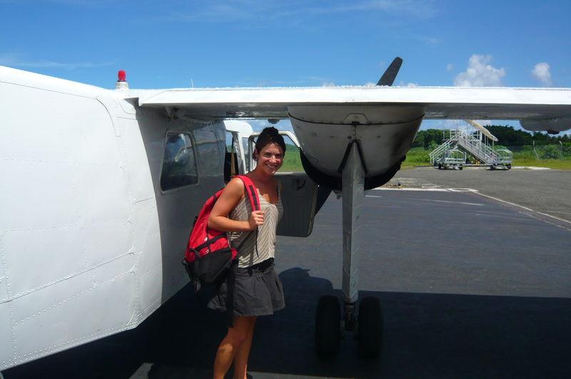 A la sortie du vol