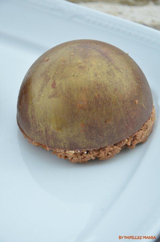 Dôme chocolat au lait Mangue Passion