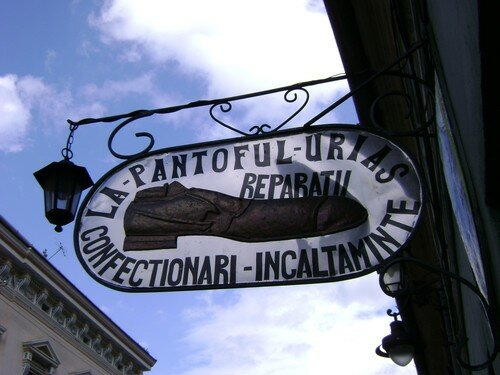 Roumanie, Sibiu, cordonnier