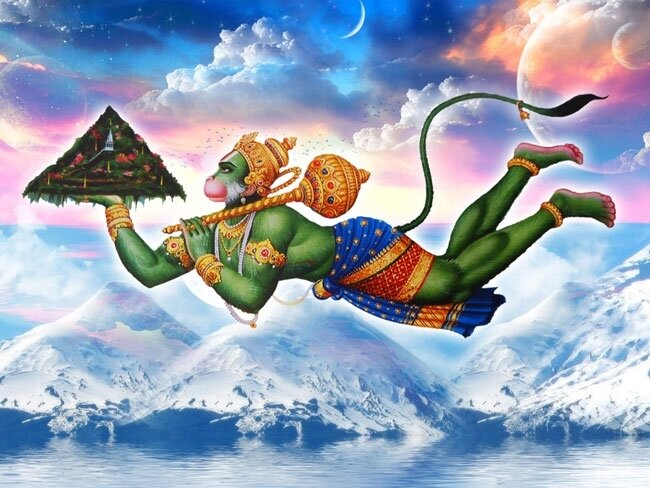 hanuman_with_mountain