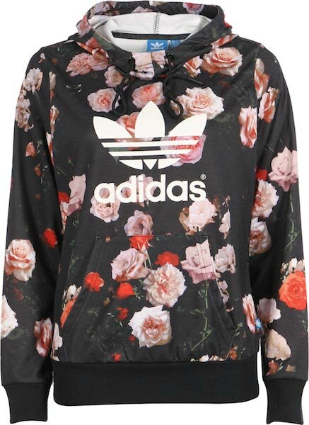 adidas sweat a capuche roses