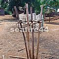 131_Ratanakiri_village de minorités Kroeungs_dispositif pour sacrifice de buffle