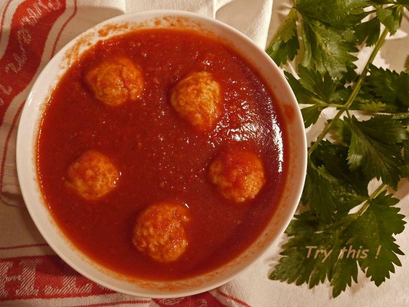 boulettes de parmesan pour soupe la tomate try this. Black Bedroom Furniture Sets. Home Design Ideas