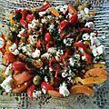 Poivrons et abricots en salade je vous avais