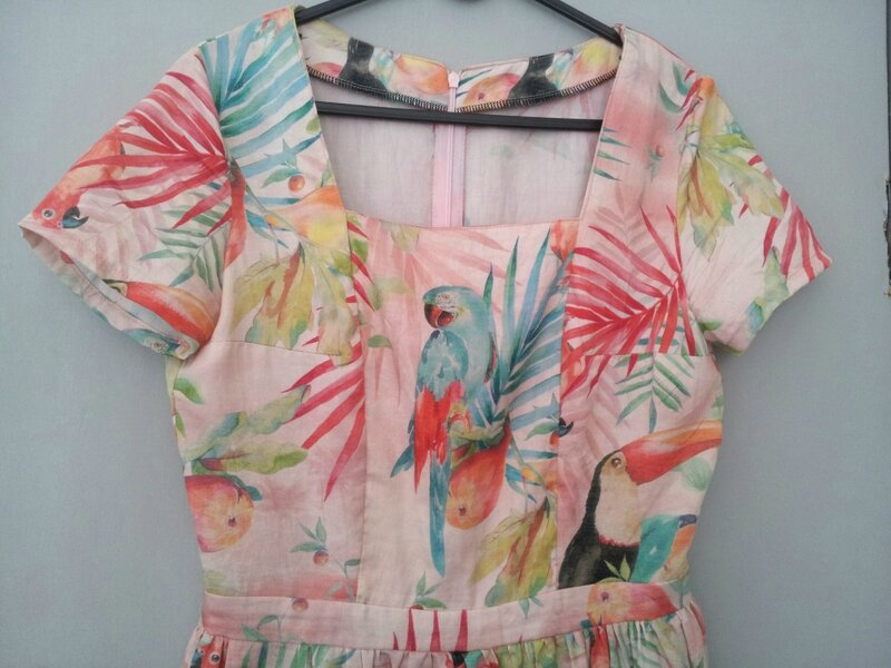 Robe Marina - détail corseage