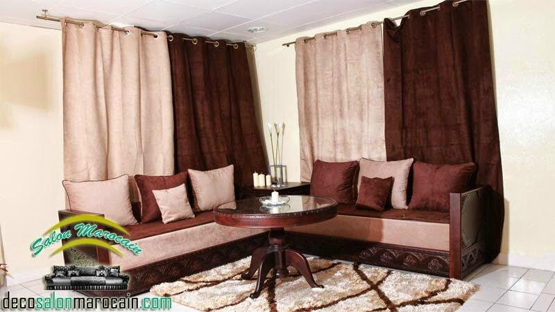 Salon Marocain Moderne Beige Marron Salon Marocain Moderne