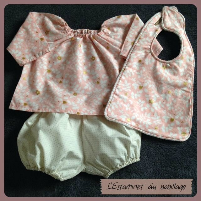De rose et de doré vêtue...{Baby box day}