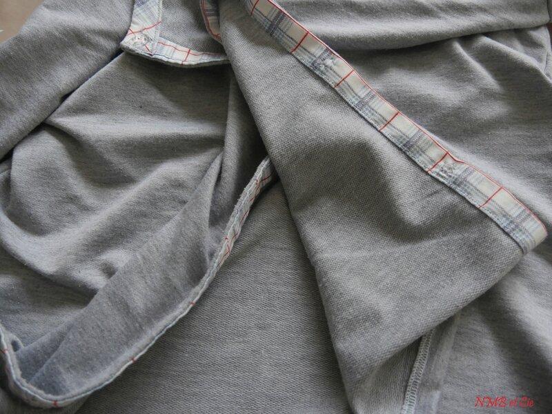 cardigan gris tissu