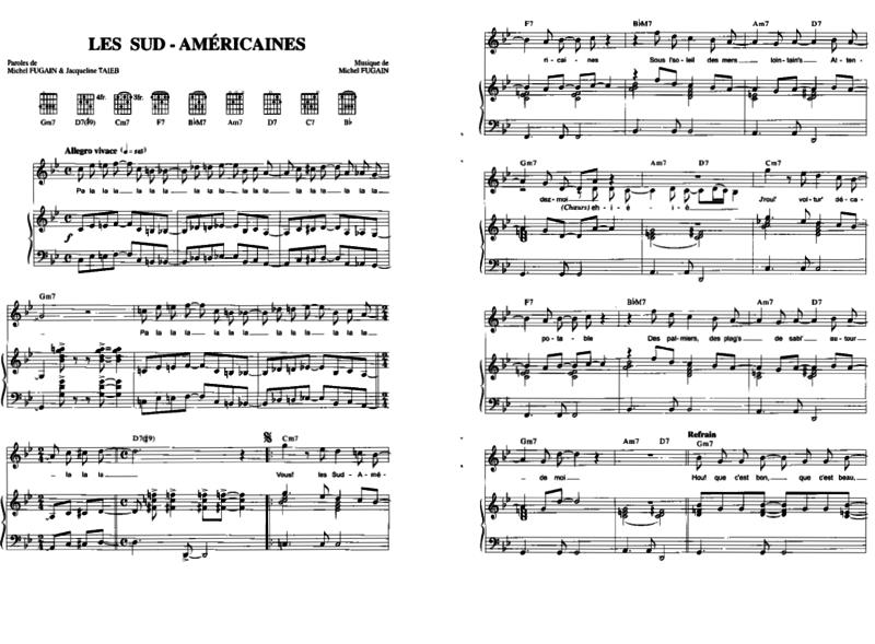 Piano u00bb Tablature Piano Mistral Gagnant - Music Sheets, Tablature, Chords and Lyrics