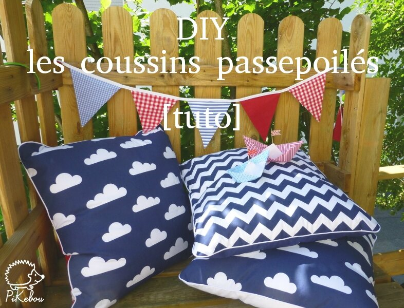 Diy les coussins passepoil s pikebou for Couture housse coussin facile
