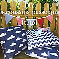 Diy - les coussins passepoilés