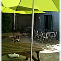Se régaler...à l'ombre d'une terrasse ombragée...