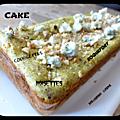 Cake aux courgettes, roquefort et noix