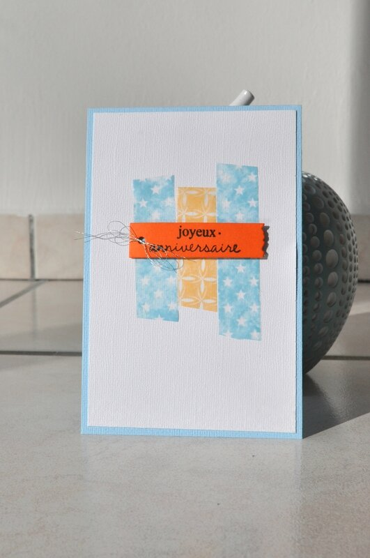 carte avec son propre masking tape sujet du 060516 scrapday's forum clean et simple