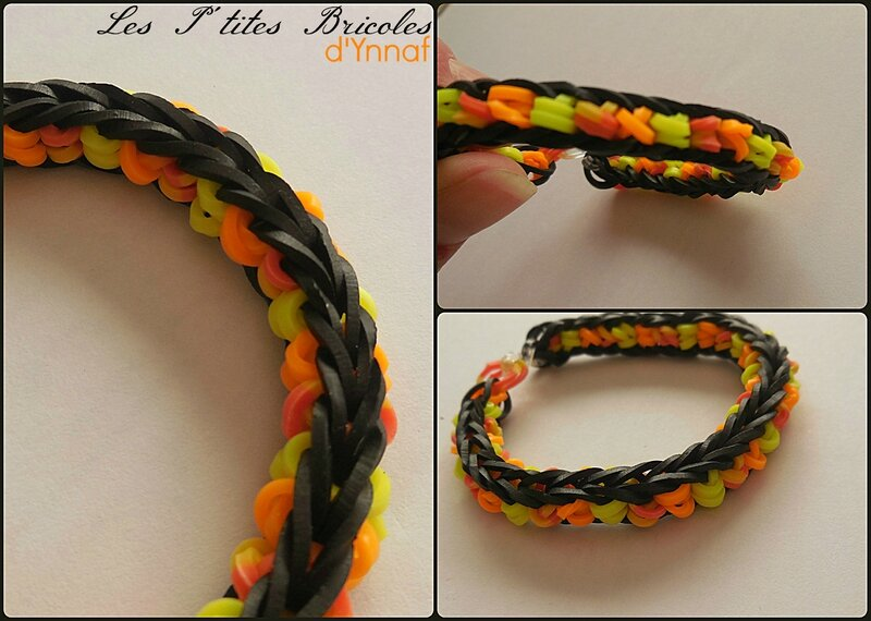 rainbow loom noir et fluo orange1