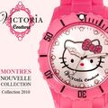 Nouvelle collection de montres hello kitty by victoria couture‏