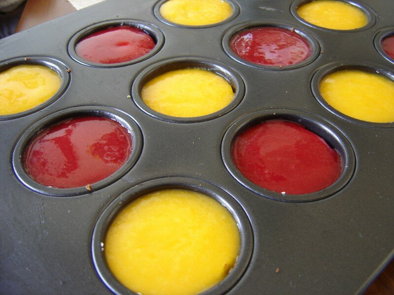 mini cheesecakes framboises et mangue raspberry and mango. Black Bedroom Furniture Sets. Home Design Ideas
