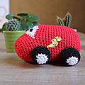 [crochet] voiture flash mcqueen