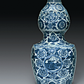 A large blue and white double-gourd vase, wanli period (1573-1619)