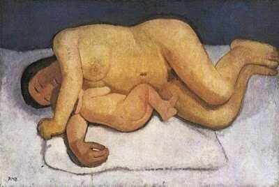 Modersohn-Becker Mother and Child Lying Nude 1907