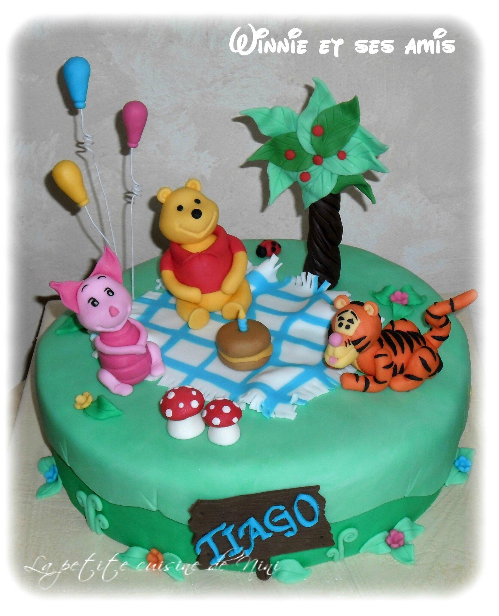 Gâteau Winnie et ses amis pour Tiago
