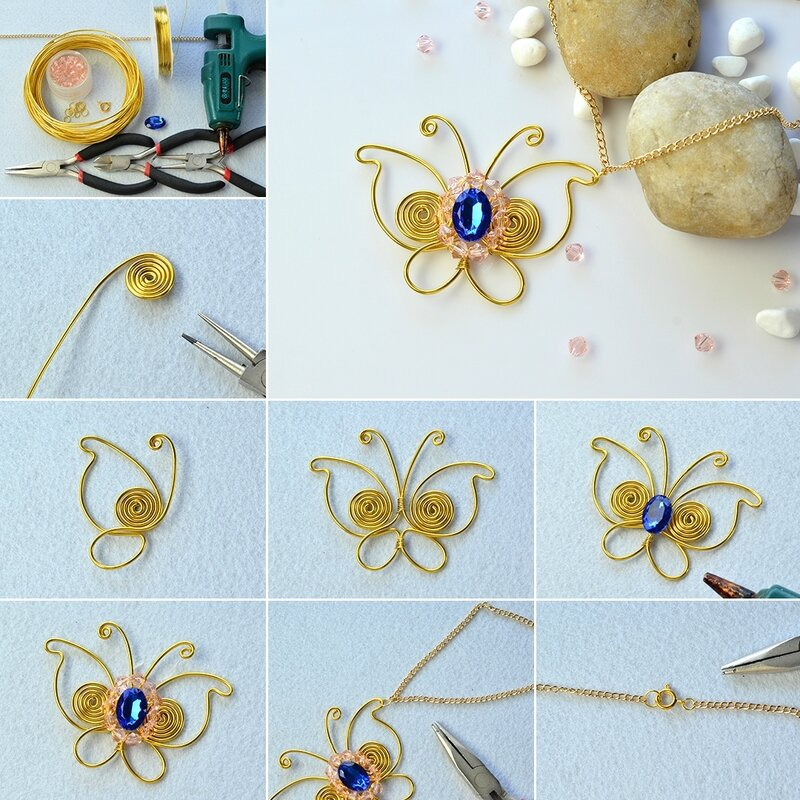1080-Easy-Tutorial-on-Wire-Wrapped-Butterfly-Pendant-Necklace