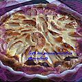 tarte aux pommes amandine 