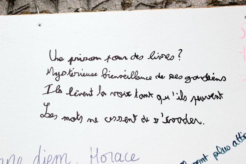 Coulommiers bibliothèque mur d'expression poétique clicfoto Francis Dechy juin 2014 02