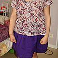 Ensemble tunique k et jupe r des basiques pour petites filles