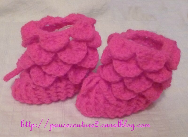 chaussons crocodile rose