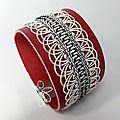 bracelet tisse main et cuir