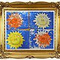 Les soleils en coloriage