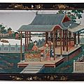 A Chinese Export Reverse-Painted Mirror Picture, Circa 1770