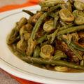 Tajine de veau aux fèves et haricots verts