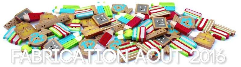 Bouton FIMO Manucréa ECOLE fabrication aout 2016