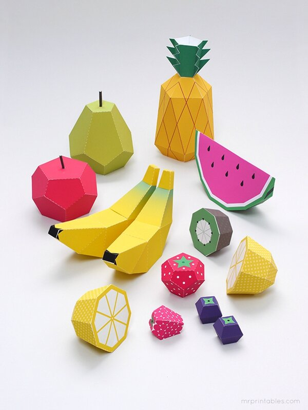Fruits de papier en 3D DIY