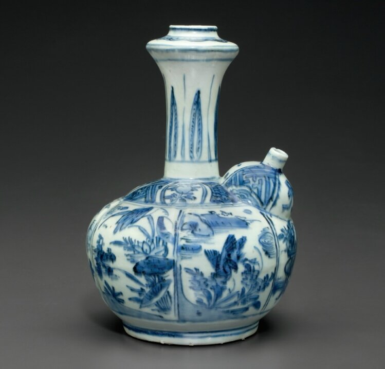 A blue and white kendi, Chongzhen period, circa 1643