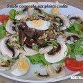 Salade composee aux gesiers confits