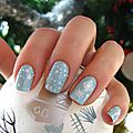 20131215 manucure bleu ciel étoilé et flocon (9)
