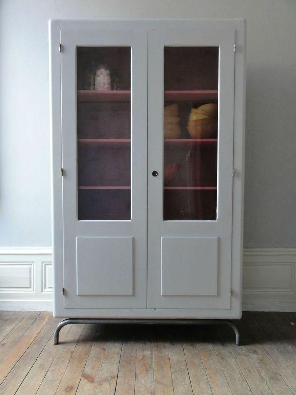 armoire ecole vitree annees 60 vintage moi. Black Bedroom Furniture Sets. Home Design Ideas