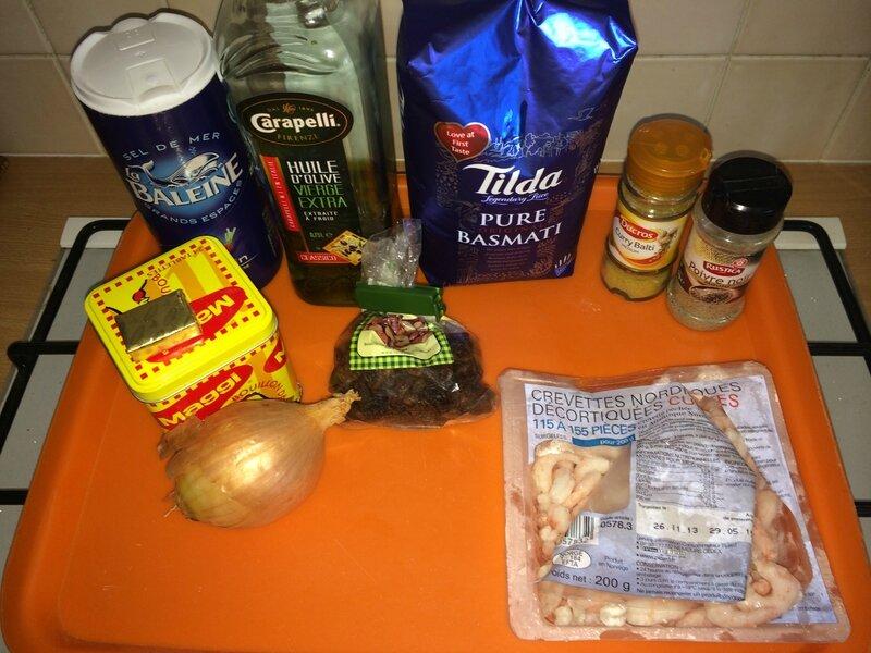 Riz au Curry et Crevettes (1)