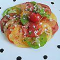 Salade d'été, salade de tomates à l'ancienne du (chef custos)