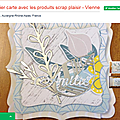 [mes ateliers - les ateliers grenadine et menthe à l'eau] une carte avec les produits scrap plaisir