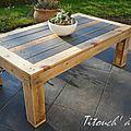 Table basse extérieure en palettes