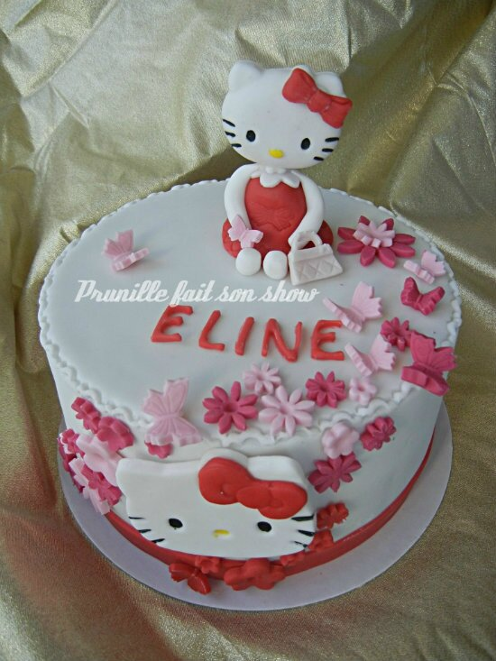 gateau hello kitty prunille fee