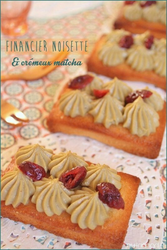Financier noisette matcha 2