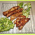 Escalope de poulet panée et marinée ...